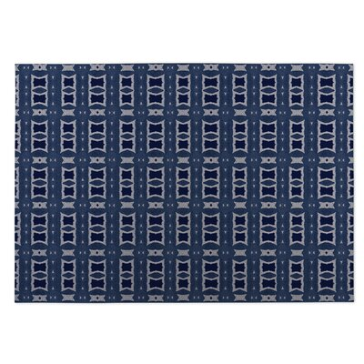 Crossroads Blue Indoor/Outdoor Doormat Rug Size: 4 x 5