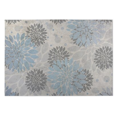 Bloom Indoor/Outdoor Doormat Color: Blue/Gray