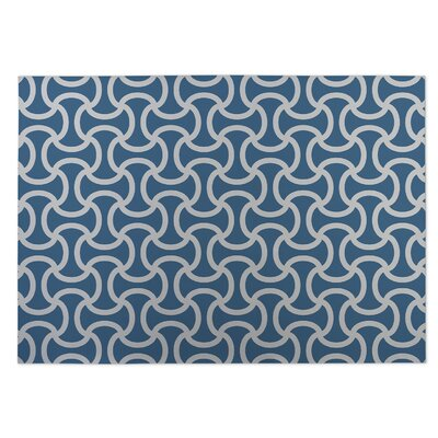 Gray/Blue Indoor/Outdoor Doormat Rug Size: 5 x 7