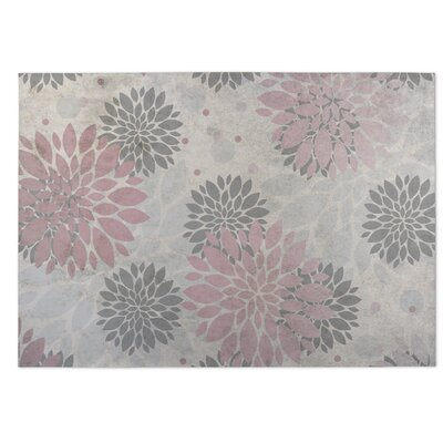 Bloom Indoor/Outdoor Doormat Color: Coral/Gray