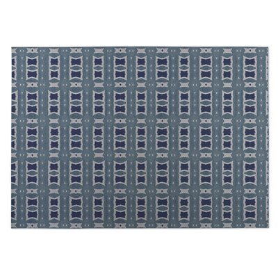 Crossroads Blue Indoor/Outdoor Doormat Rug Size: Square 8'