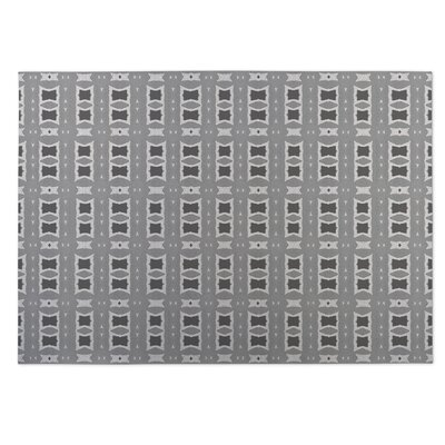 Crossroads Gray Indoor/Outdoor Doormat Rug Size: 5' x 7'