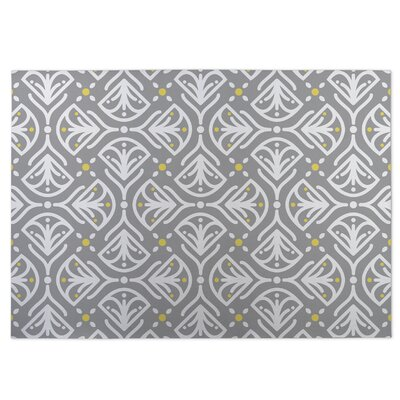 Kissing Tulips Gray Indoor/Outdoor Doormat Rug Size: 4 x 5