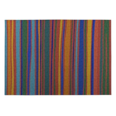 Orange Indoor/Outdoor Doormat Rug Size: 8 x 10