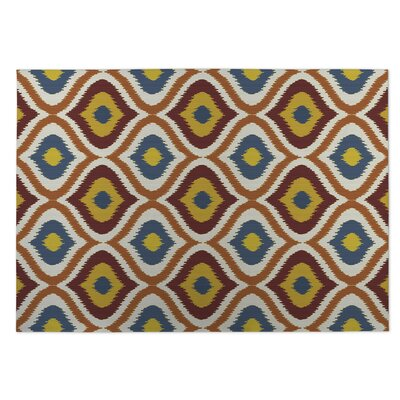 Orange/Red Indoor/Outdoor Doormat Rug Size: 5 x 7