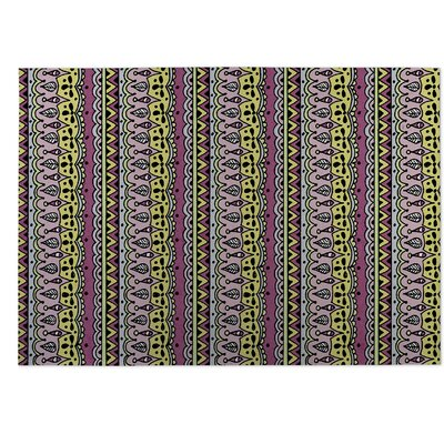 Sediments Purple Indoor/Outdoor Doormat Rug Size: 8 x 10