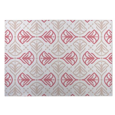 Kissing Tulips Pink/Beige Indoor/Outdoor Doormat Rug Size: 8 x 10