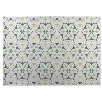 Green Indoor/Outdoor Doormat Rug Size: Square 8