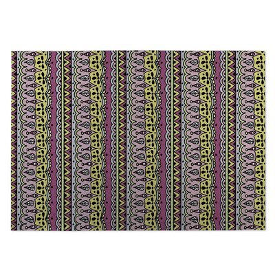 Sediments Purple Indoor/Outdoor Doormat Rug Size: 5 x 7