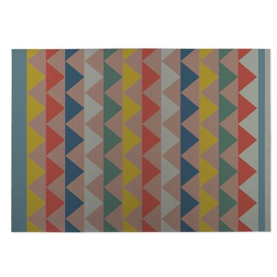 White Caps Pink Indoor/Outdoor Doormat Rug Size: Square 8