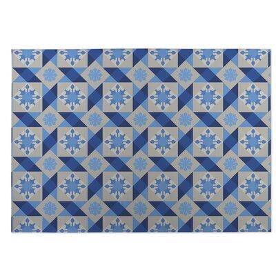 Blue Indoor/Outdoor Doormat Rug Size: 8 x 10