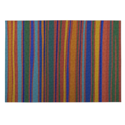 Striped Indoor/Outdoor Doormat Color: Orange