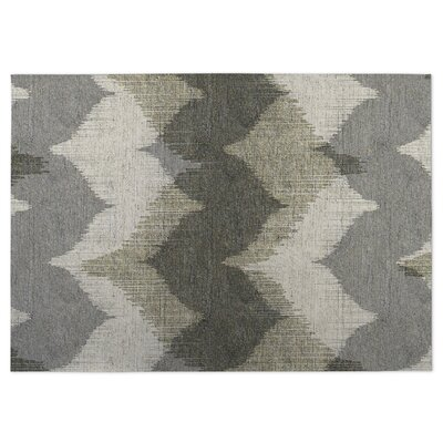 Bodhi Gray Indoor/Outdoor Doormat Rug Size: 4 x 5