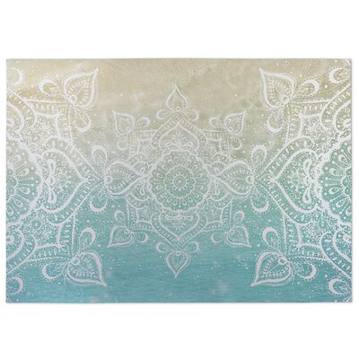 Dream of the Beach Beige/Blue Indoor/Outdoor Doormat Rug Size: 5 x 7