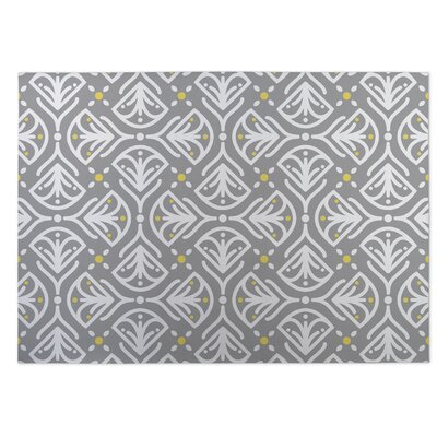 Kissing Tulips Gray Indoor/Outdoor Doormat Rug Size: 8 x 10