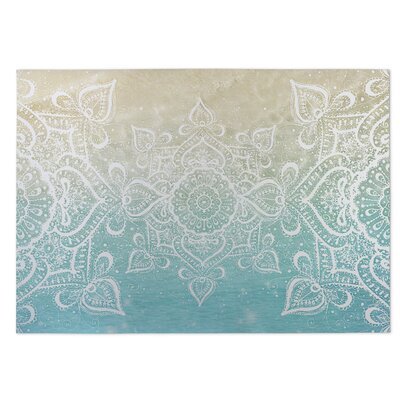 Dream of the Beach Beige/Blue Indoor/Outdoor Doormat Rug Size: Square 8