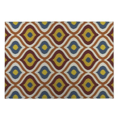 Orange/Red Indoor/Outdoor Doormat Rug Size: Square 8