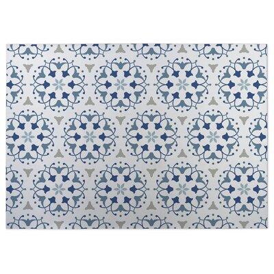 Jardin Blue Indoor/Outdoor Doormat Rug Size: 8 x 10