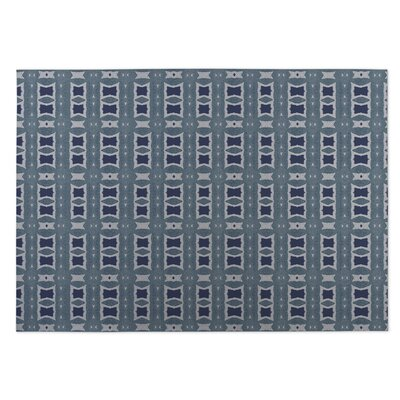 Crossroads Blue Indoor/Outdoor Doormat Rug Size: 5 x 7