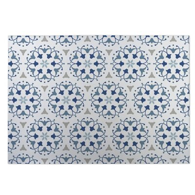 Jardin Blue Indoor/Outdoor Doormat Rug Size: 4 x 5