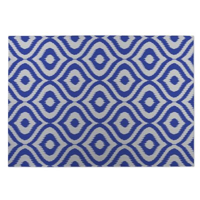 Blue Indoor/Outdoor Doormat Rug Size: 4 x 5