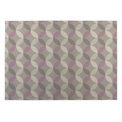 Gray/Purple Indoor/Outdoor Doormat Rug Size: 8 x 10