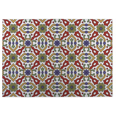Red/Green Indoor/Outdoor Doormat Rug Size: 5 x 7