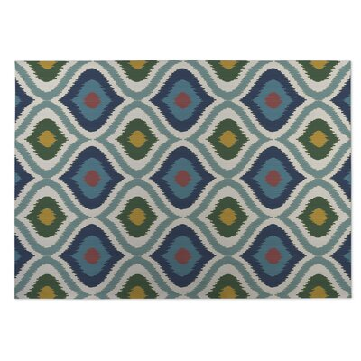 Blue/Green Indoor/Outdoor Doormat Rug Size: Rectangle 8 x 10