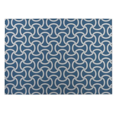 Gray/Blue Indoor/Outdoor Doormat Rug Size: 8 x 10