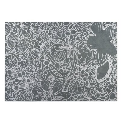 Expressions Gray Indoor/Outdoor Doormat Rug Size: 8 x 10