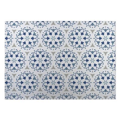 Jardin Blue Indoor/Outdoor Doormat Rug Size: Rectangle 4 x 5
