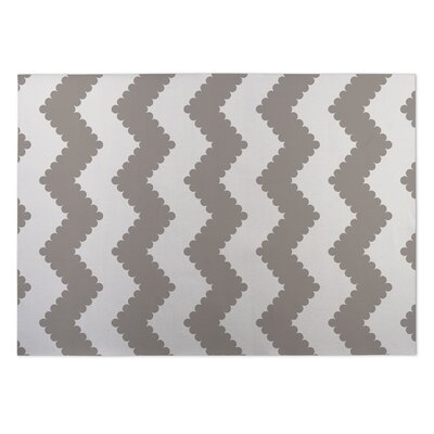 Play Chevron Indoor/Outdoor Doormat Color: Gray