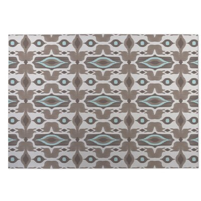 Mojave Beige/Brown Indoor/Outdoor Doormat Rug Size: 4 x 5