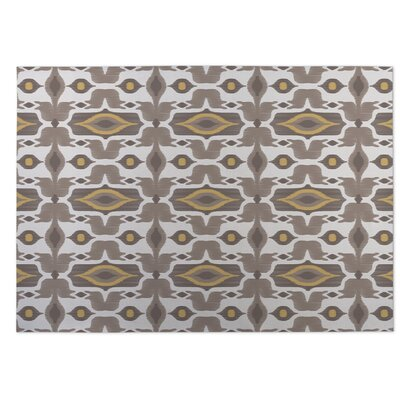 Mojave Brown/Yellow Indoor/Outdoor Doormat Rug Size: Square 8