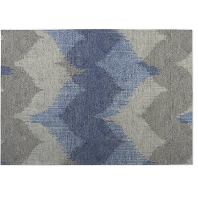 Bodhi Blue/Beige Indoor/Outdoor Doormat Rug Size: 4 x 5