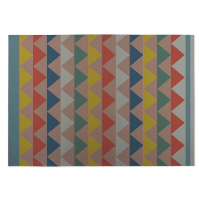 White Caps Pink Indoor/Outdoor Doormat Rug Size: 8 x 10