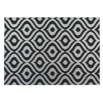 Black/Gray Indoor/Outdoor Doormat Mat Size: Rectangle 5 x 7