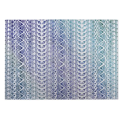 Ocean Breeze Purple/Blue Indoor/Outdoor Doormat Rug Size: 5 x 7