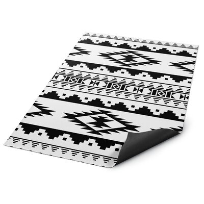 Black/White Indoor/Outdoor Doormat Rug Size: Square 8