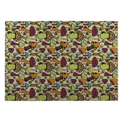 Beige Indoor/Outdoor Doormat Rug Size: 5 x 7