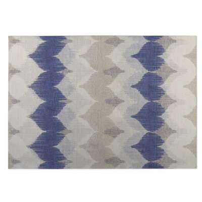 Blue/Beige Indoor/Outdoor Doormat Rug Size: 4 x 5
