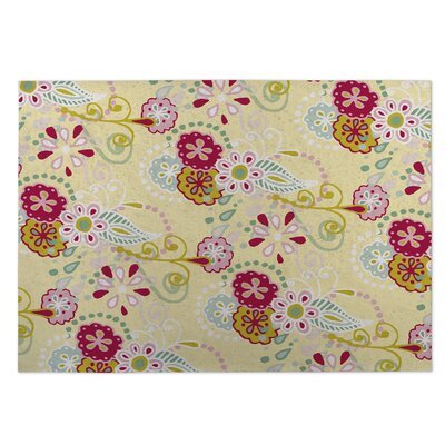 Yellow Indoor/Outdoor Doormat Rug Size: 4 x 5