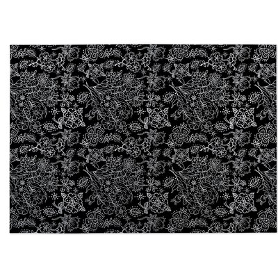 Black Indoor/Outdoor Doormat Rug Size: Square 8