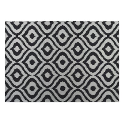 Black/Gray Indoor/Outdoor Doormat Rug Size: 8 x 10