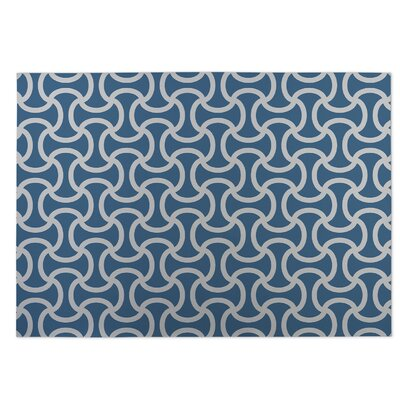 Gray/Blue Indoor/Outdoor Doormat Rug Size: Square 8