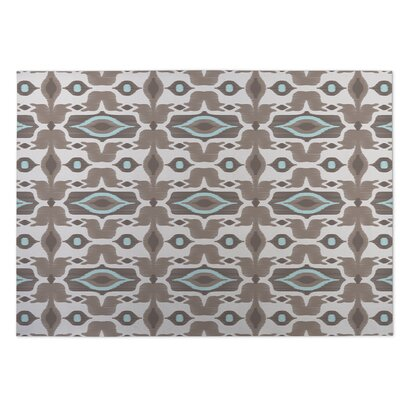 Mojave Indoor/Outdoor Doormat Color: Taupe/Aqua