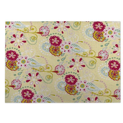 Yellow Indoor/Outdoor Doormat Rug Size: 5 x 7