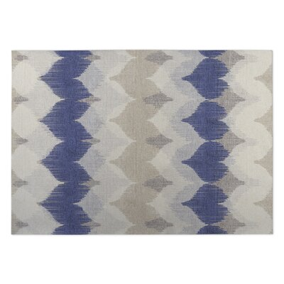 Blue/Beige Indoor/Outdoor Doormat Mat Size: Square 8