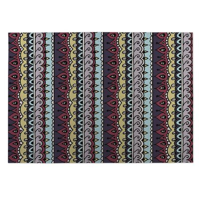 Purple/Red Indoor/Outdoor Doormat Rug Size: 4 x 5