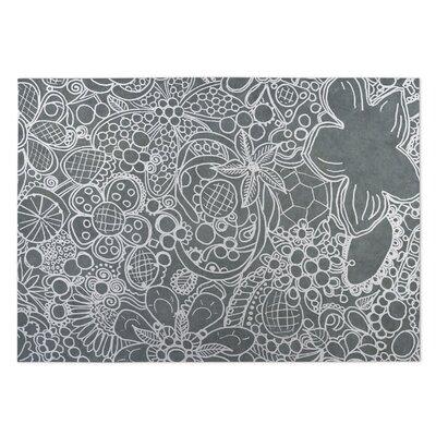 Expressions Gray Indoor/Outdoor Doormat Rug Size: 5 x 7
